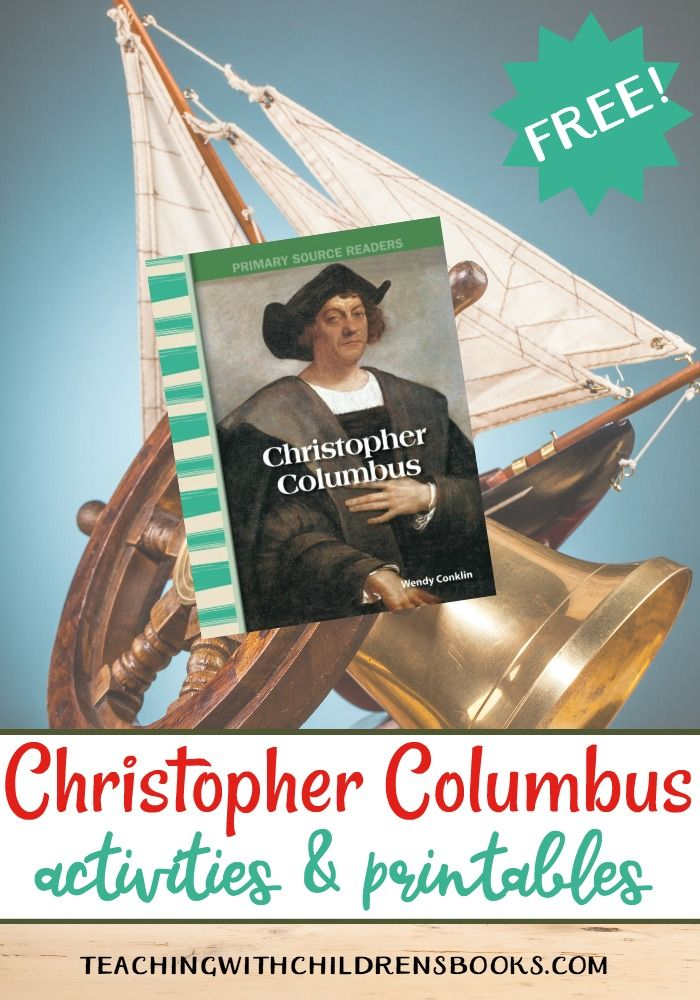 Christopher Columbus Activities And Unit Study Resources History Books For Kids Christopher Columbus Activities
