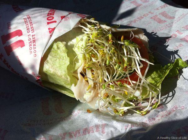 Jimmy John S Healthy Unwich Healthy Slice Eat Healthy