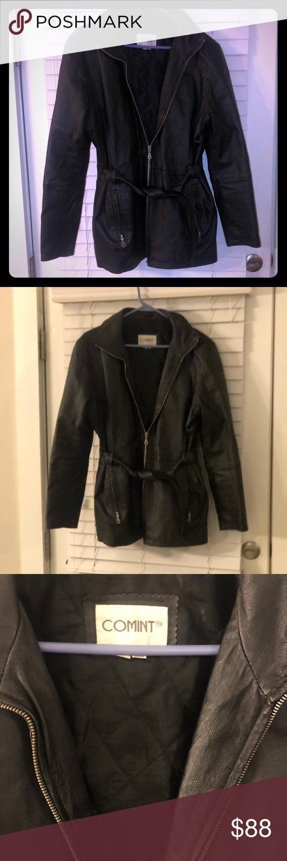 Comint Black Leather Jacket Leather Jacket Black Leather Jacket Jackets [ 1740 x 580 Pixel ]