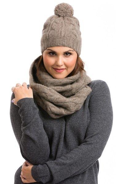 Women s Cashmere Infinity Scarf   Hat Set  f304ec76ba
