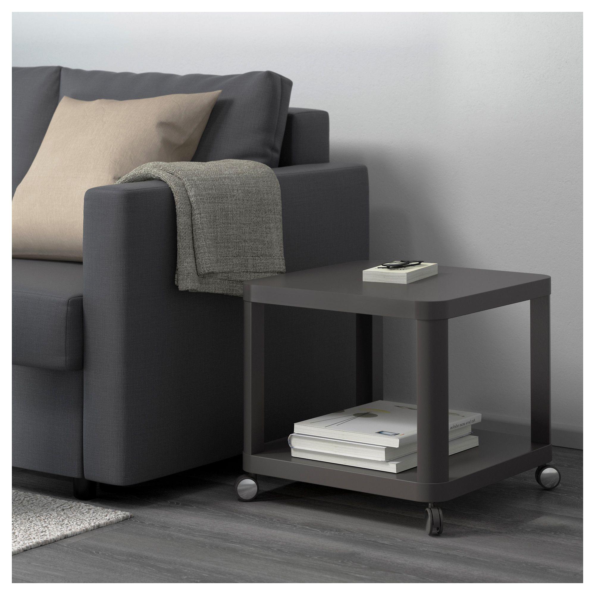 Tingby Mesa Auxiliar Con Ruedas Gris 50x50 Cm Beistelltisch Rollen Wohnzimmermobel Ikea Und Ikea Beistelltisch