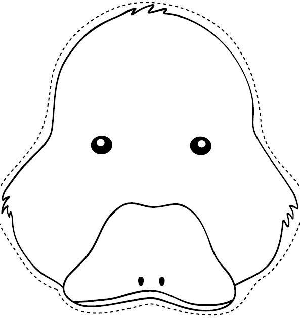 Molde de máscara de pato - Imagui | หน้ากาก | Pinterest | Duck mask ...
