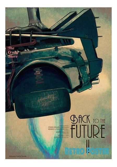 Back To The Future Series Of Posters Drawn Bar Living Room Retro