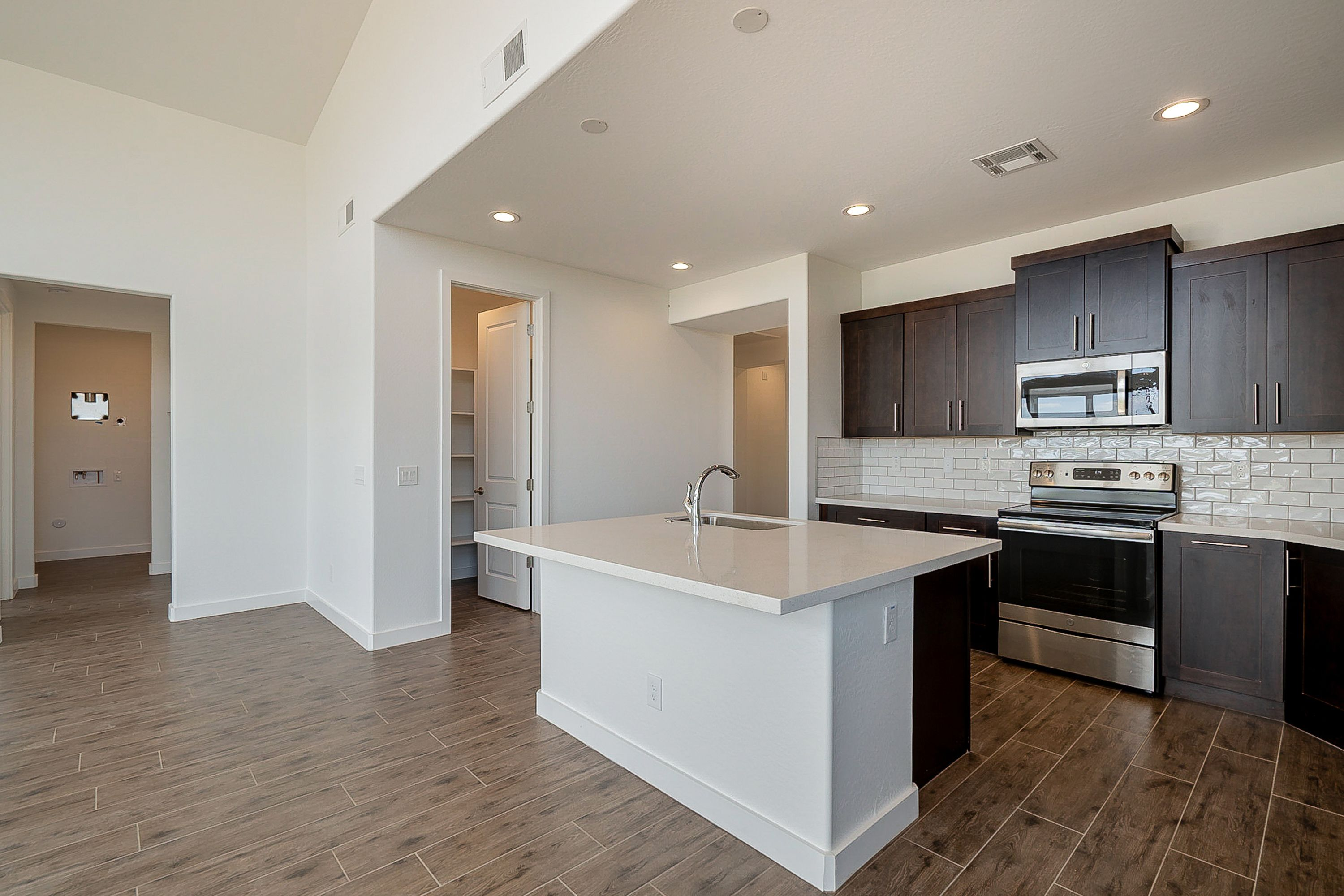 Contemporary Kitchen In New Construction Home Open Floor House Plans Design Your Dream House Home Builders