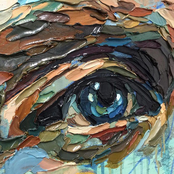 Multicolored Palette Knife Paintings Explore The Many Layers Of Human Emotions Art Texture Painting Art Techniques