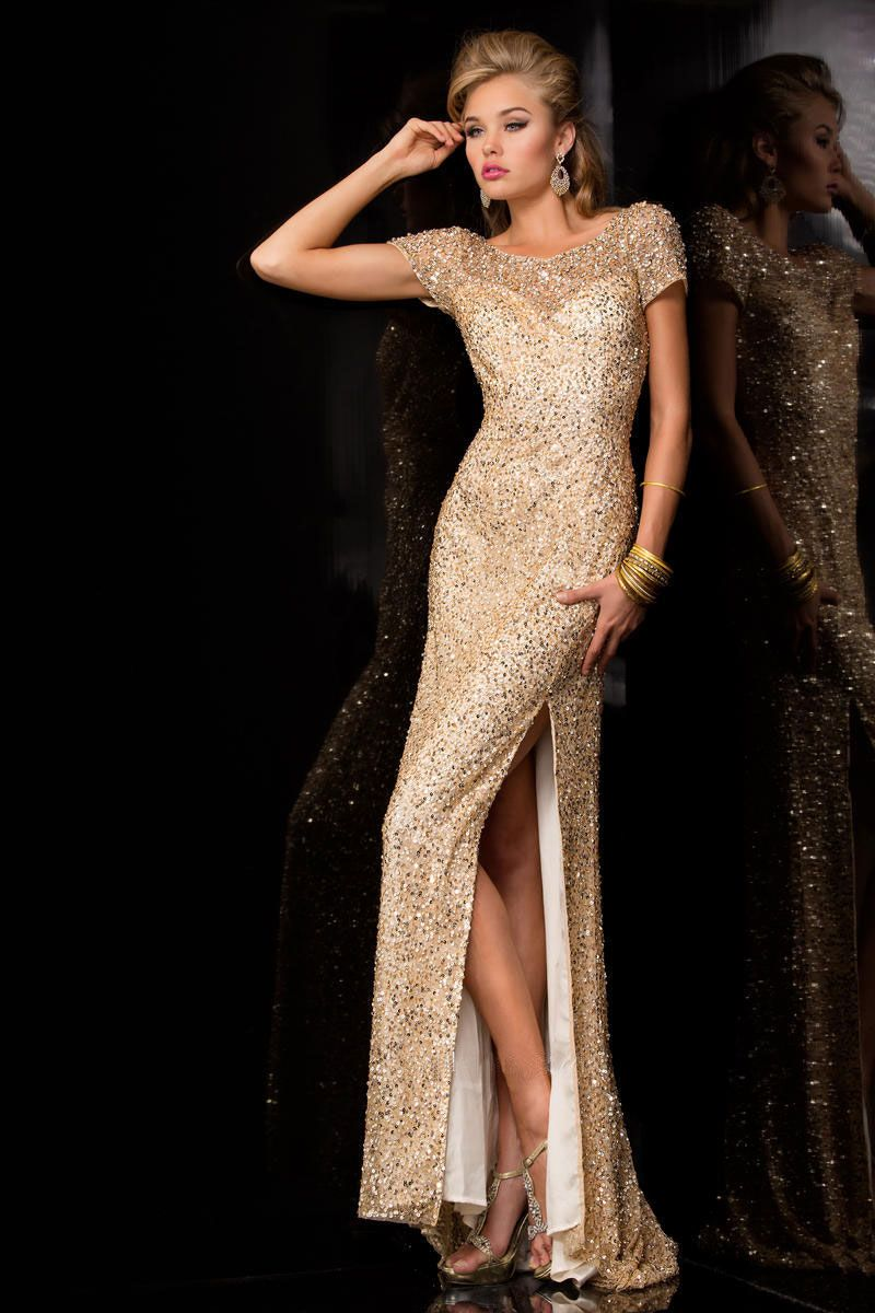 Long sweetheart neck dress with beaded overlay and capped sleeves Product Code: 51603 Colour: Champagne,Navy