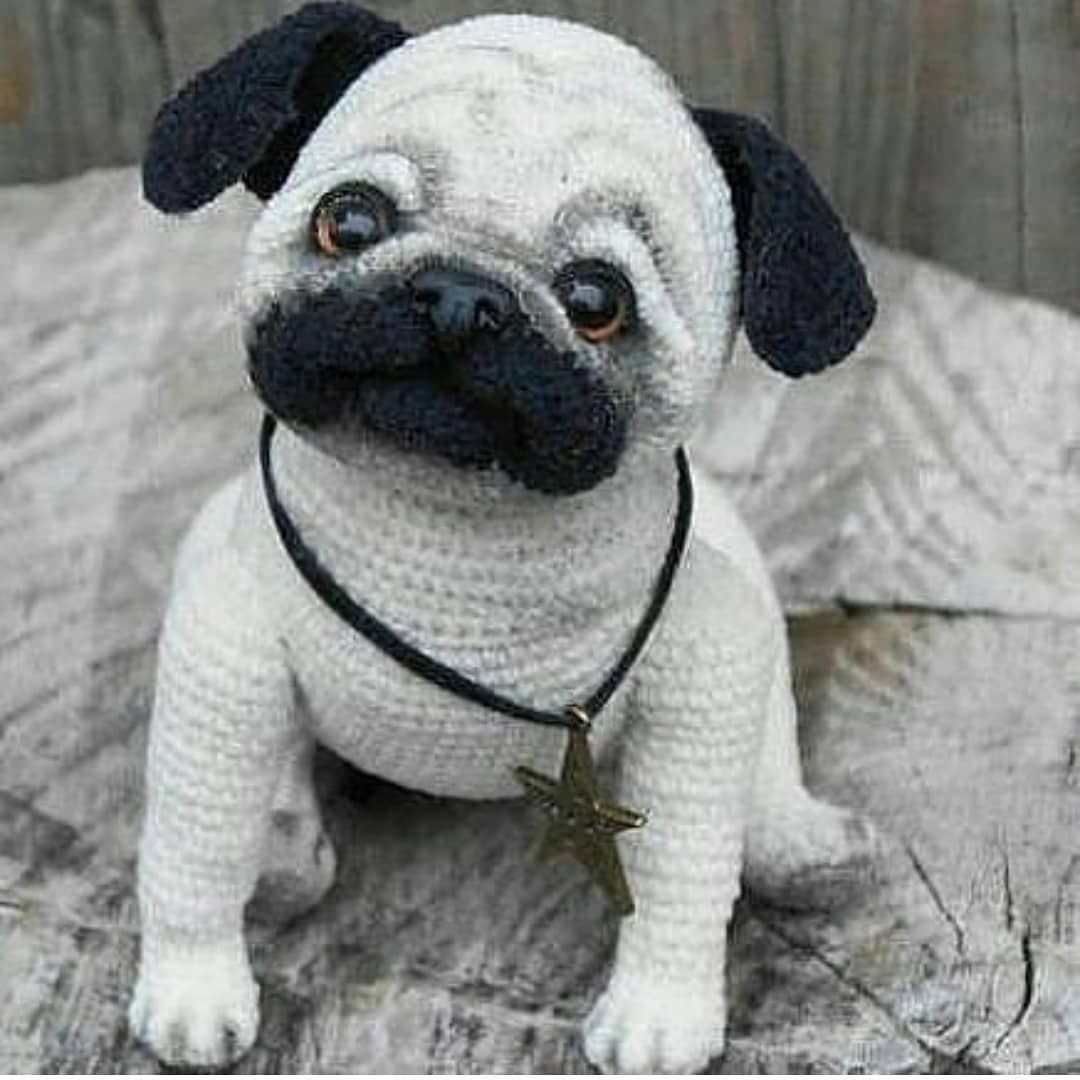 CANAL CROCHET: Perro pug amigu (With images) | Crochet dog ... | 1080x1080