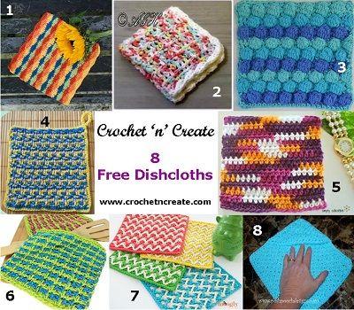 8 Pretty Free Crochet Dishcloths patterns | Crochet | Pinterest