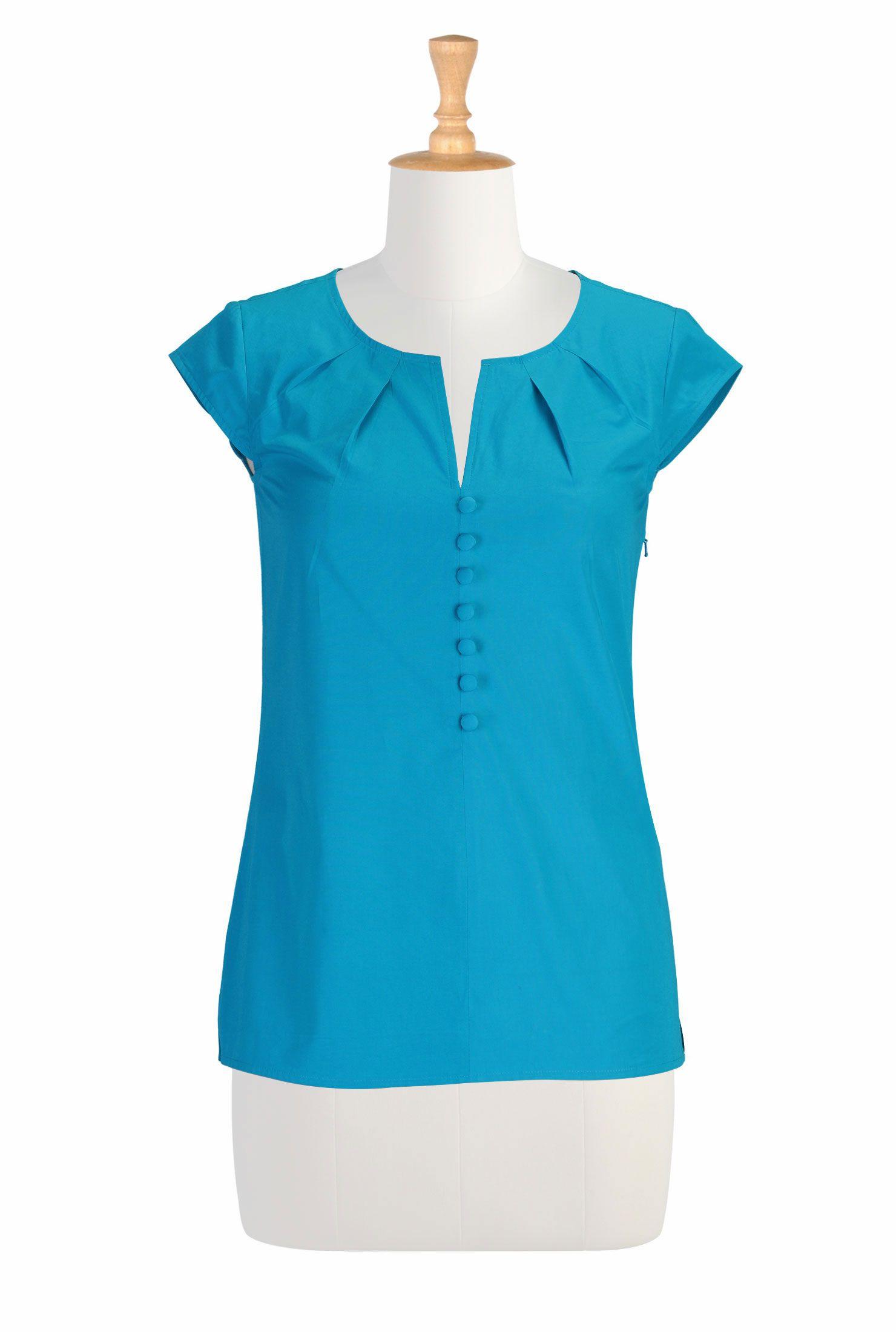 Chateau poplin blouse  Womens dressy blouses, Dressy shirts