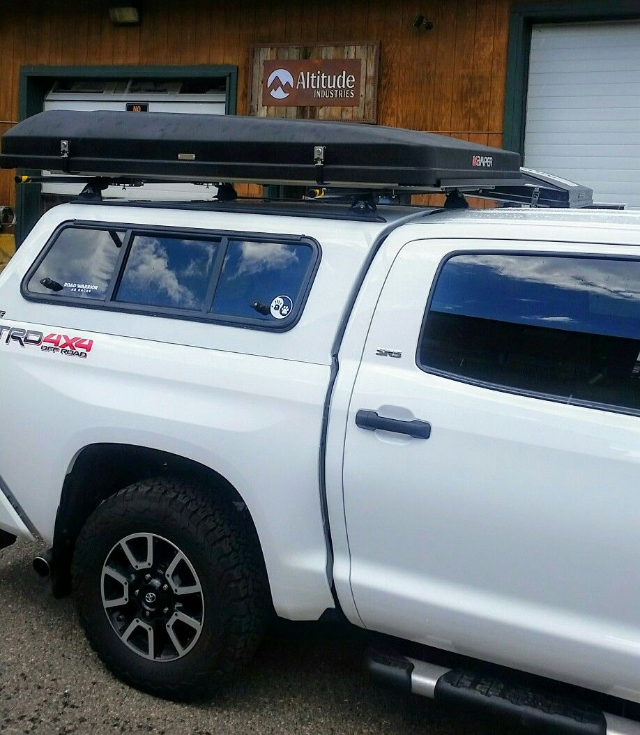 d56cbb757c Toyota Tundra TRD with ikamper skycamp 4-person hardshell rooftop tent!