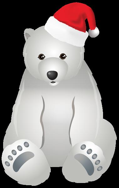 Christmas Polar Bear Transparent Clip Art Image Polar Bear Art Bear Art Art Images