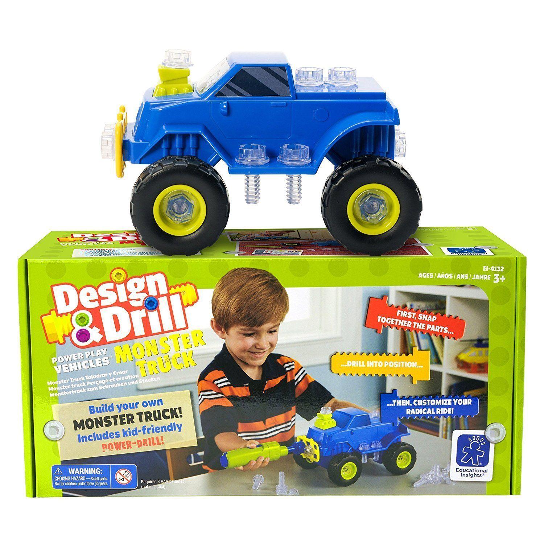 Car 3 toys  Amazon Educational Insights Design u Drill Power Play Vehicles