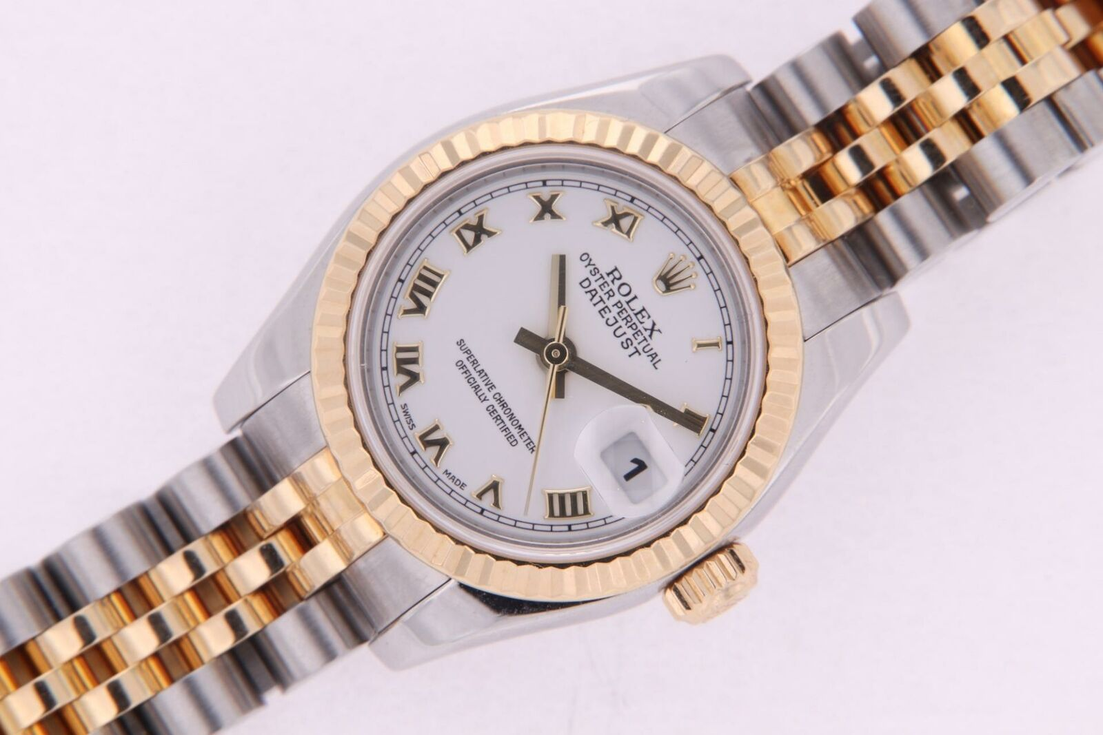 Rolex Datejust Stainless Steel & Gold Ladies Automatic Watch Ref 179173 w. Paper