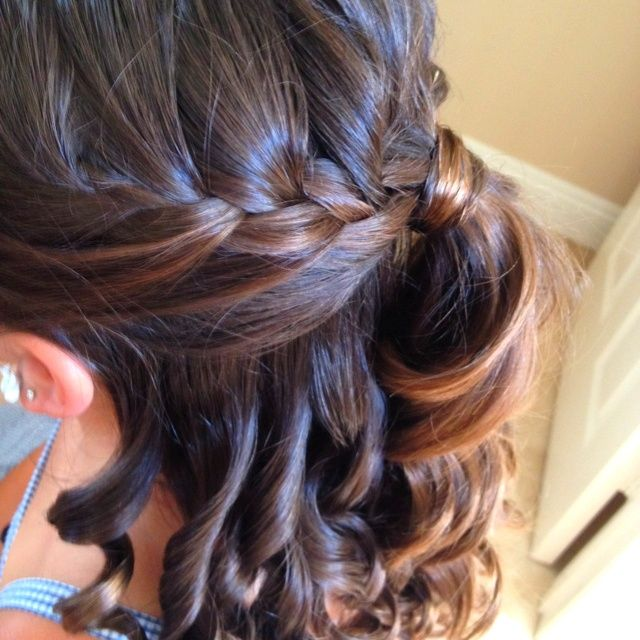 prom hair ! #curls #ponytail #hairstyle | Ponytail ...