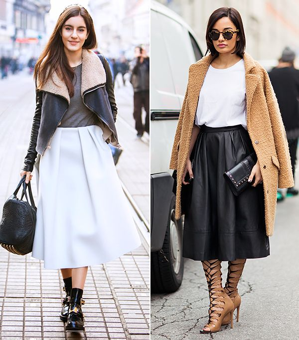 Who What Wear - Your Weekend Uniform: Basic T-Shirt & Midi Skirt ...