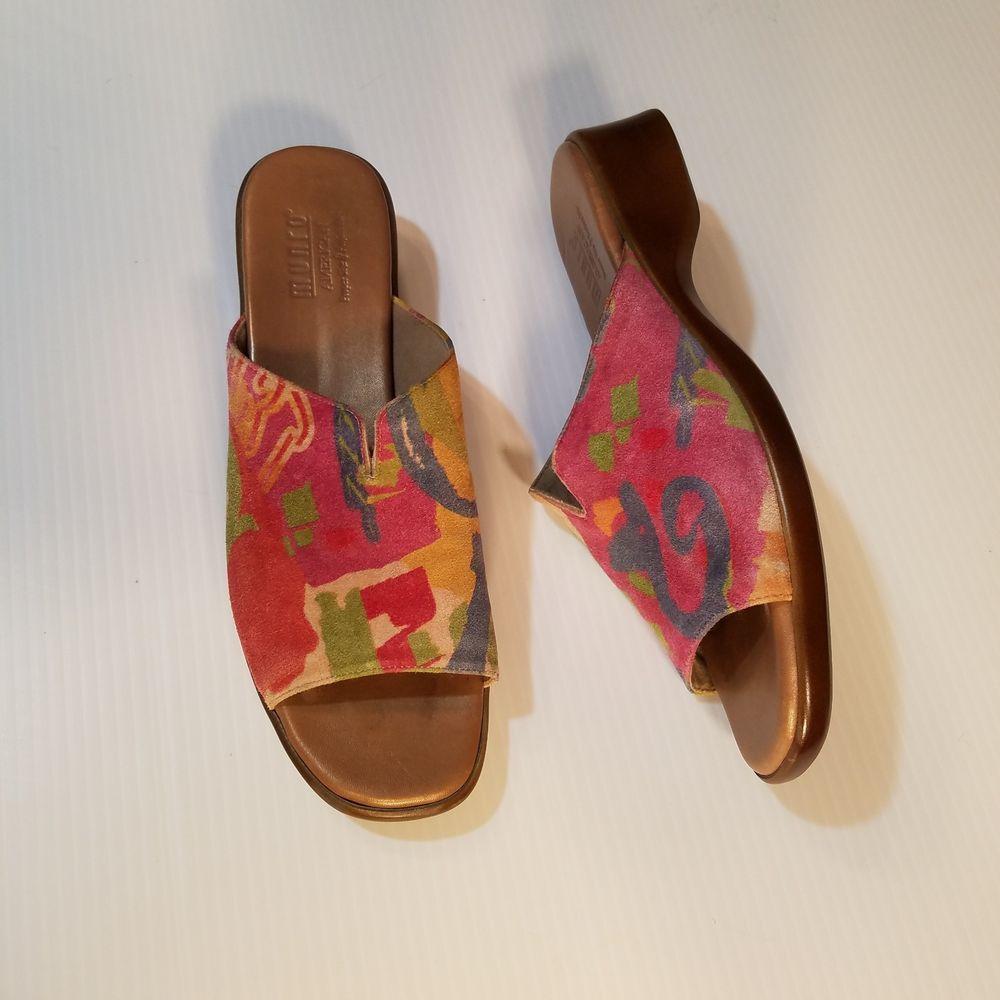 ffd1fdf43d63 Munro American Women s Sandals Slides Fabric Aruba Rainbow Print Size 9 SS  4A  Munro  Slides  Casual