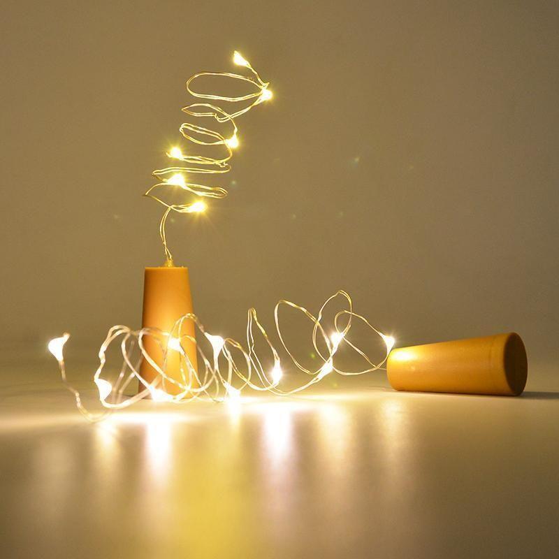 Cork Wine Bottle String Light #inspireuplift explore Pinterest