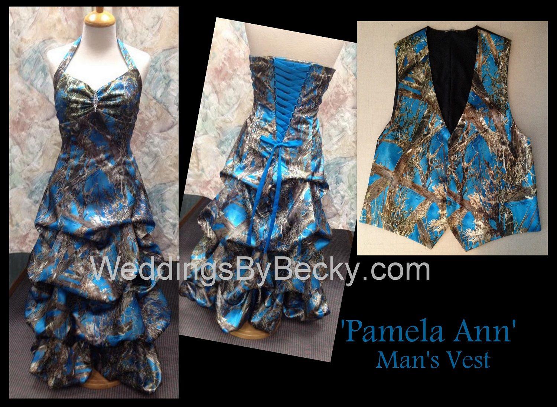 Truetimber Blue Camo \'Pamela Ann\' with matching man\'s camo vest ...