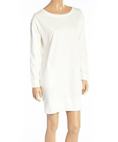 Another great find on #zulily! Ivory Crewneck Oversize Sleepshirt - Plus #zulilyfinds