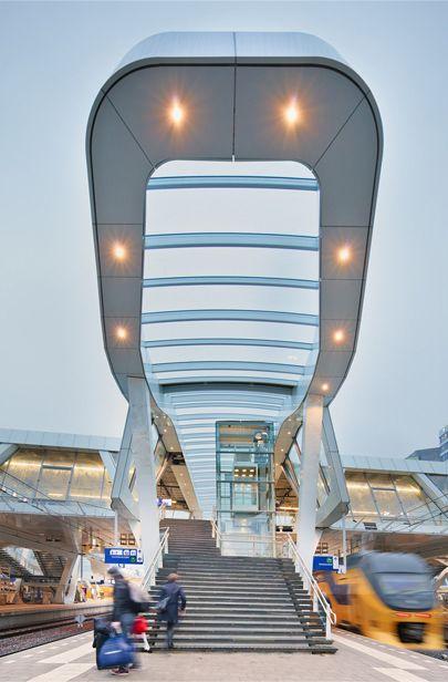 Arnhem Central Station, architecture by UNStudio, Arnhem, the Netherlands