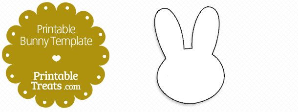 Printable Bunny Template — Printable Treats.com | Silhouettes ...
