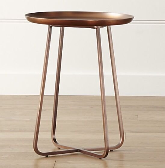 Superieur Copper Penelope Accent Table, Crate And Barrel