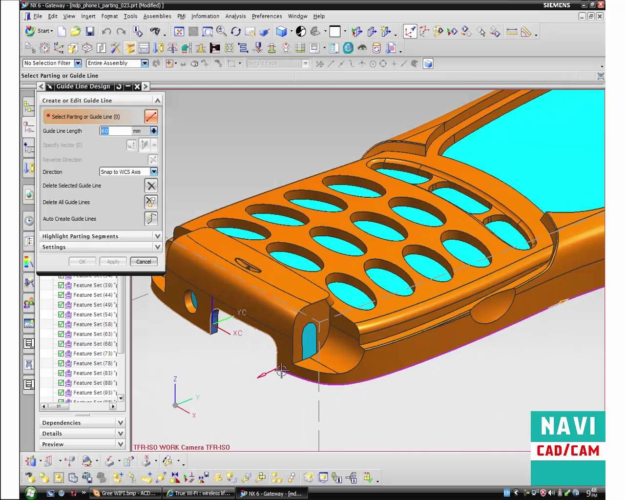 NX Mold Wizard : Cell Phone Mold Design EP  1 | mold