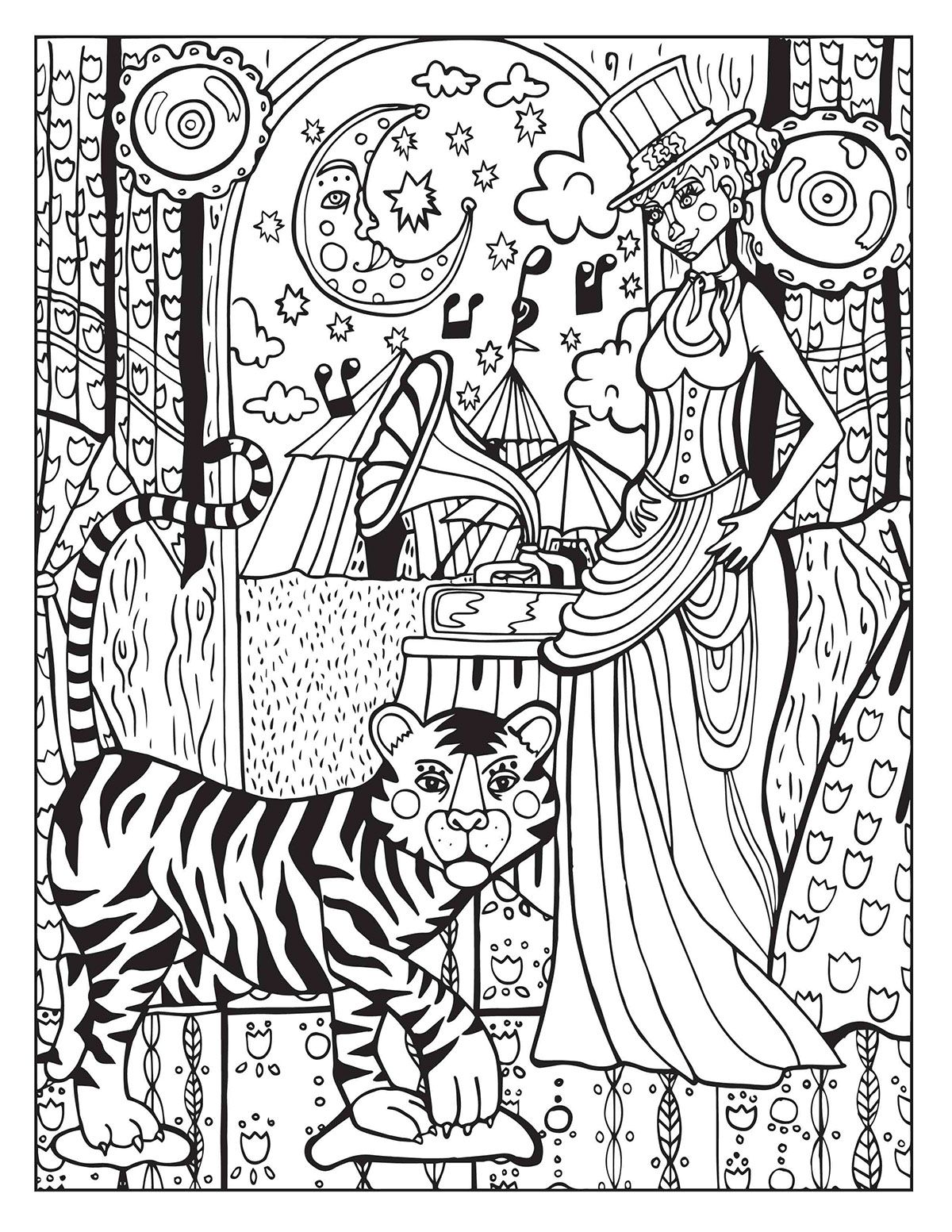 A Day At The Circus On Behance Unicorn Coloring Pages Mandala Coloring Pages Coloring Pages