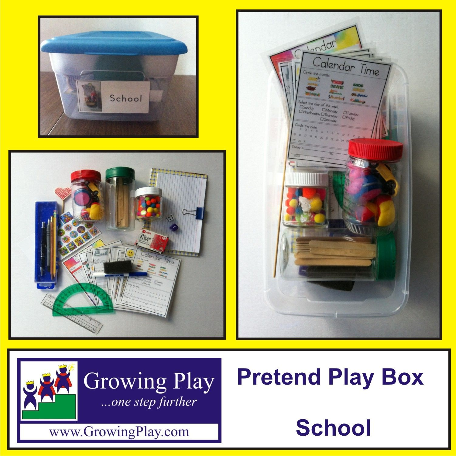 Pretend Play Box -School What's Inside: Inside This Box Is
