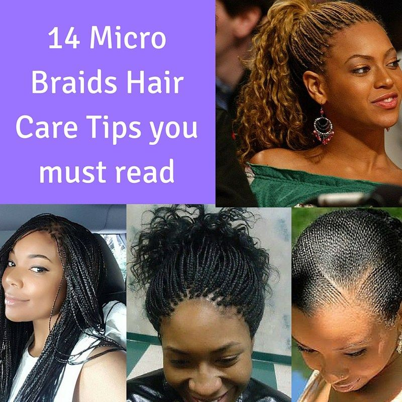 How To Take Care Of Micro Braids Style In Hair Micro Braids Hairstyles Micro Braids Natural Hair Braids