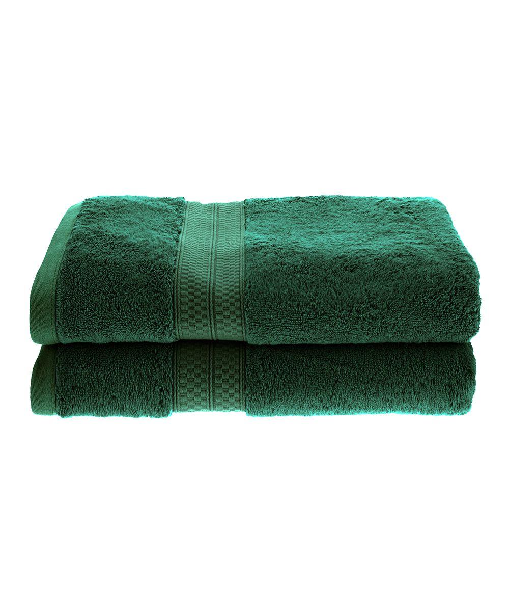 Hunter Green Bath Towels