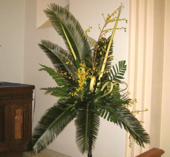 Flower Arrangements For Church Sanctuary: Today Was Palm Sunday