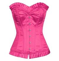 Heavy Duty 26 Double Steel Boned Waist Training Satin Overbust Corset #8087-BT