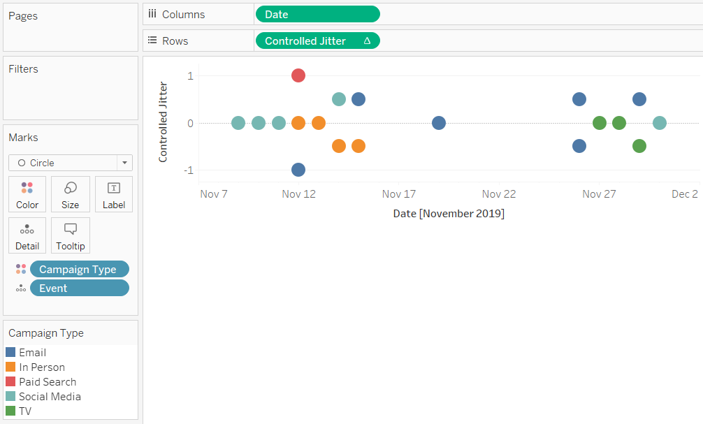 How To Make A Tableau Timeline When Events Overlap Playfair Data Timeline Create A Timeline Create A Calendar