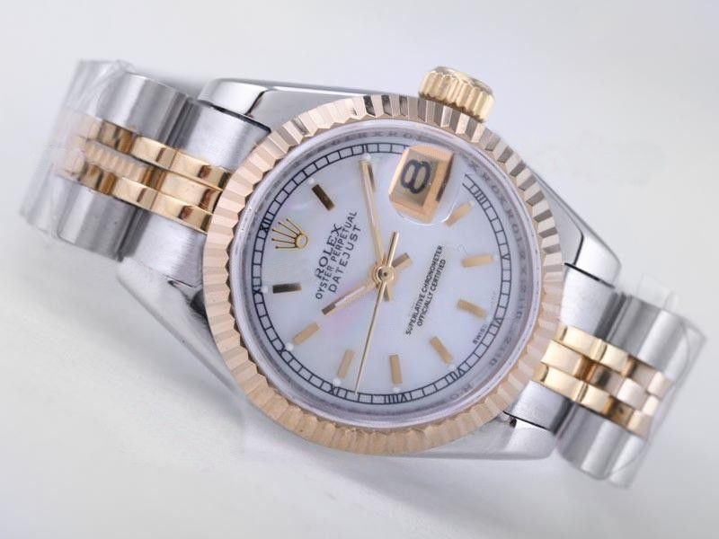 27bbe6a962f Rolex Datejust Swiss ETA 2671 MOP Dial Stick Marking Lady Size Replica  Watch Rolex2220