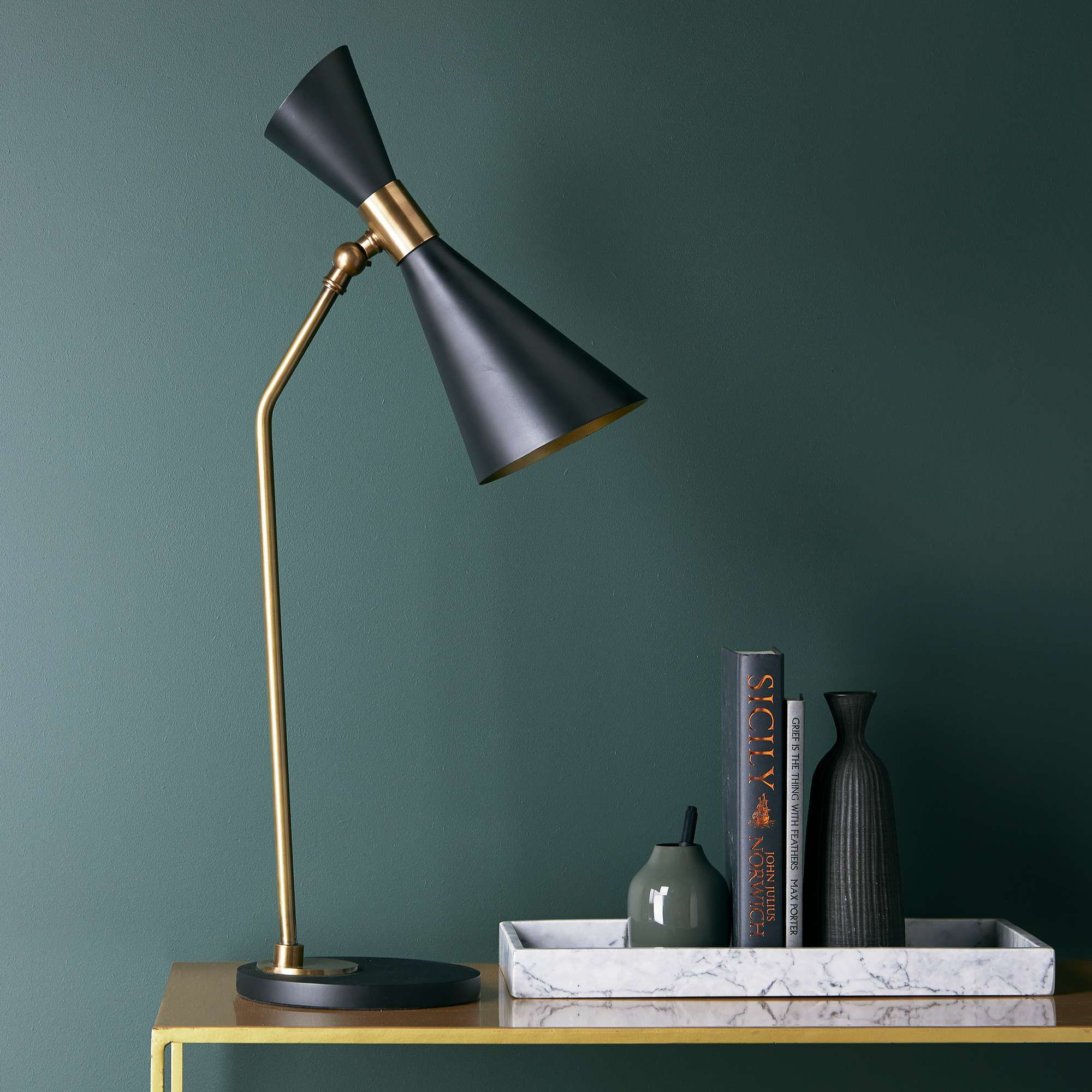 Bow Tie desk light in black in 2020   Desk light, Office