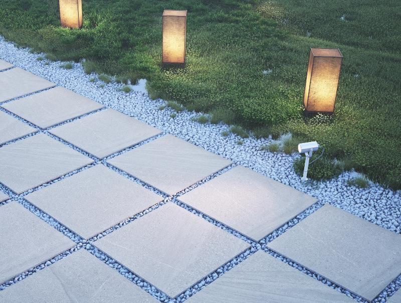 DALLE PIETRA carrelage extérieur 2 cm GRIS ANTHRACITE - photo terrasse carrelage gris