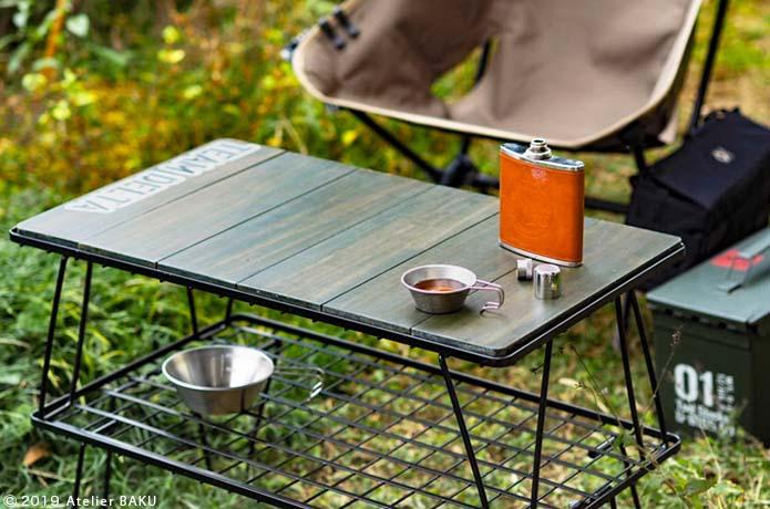 あの大人気ラックを簡単テーブル化 ホームセンターを使い倒せばラクして作れます キャンプ用キッチン キャンプのアイデア ラック