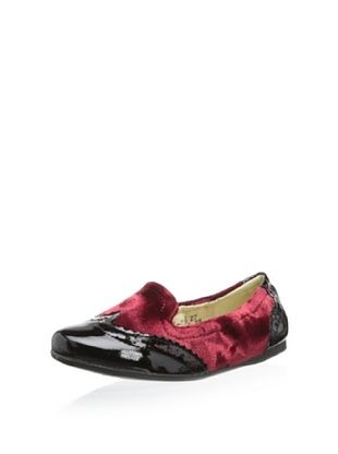 53% OFF Venettini Kid's Dasa (Black Patent/Bordo Stain Velvet)