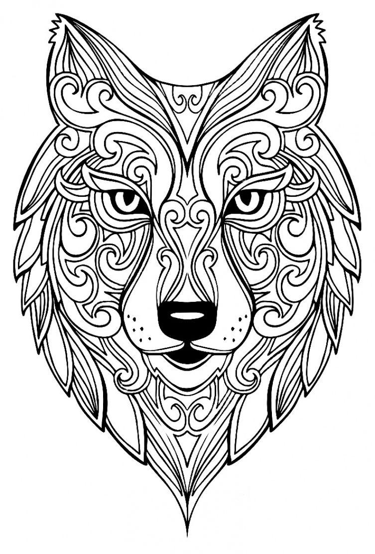 Grand Loup Coloriages D Animaux 100 Mandalas Zen Anti Stress For Mandala A Colorier Anima Coloriage Zen Animaux Coloriage Loup Coloriage Mandala Animaux