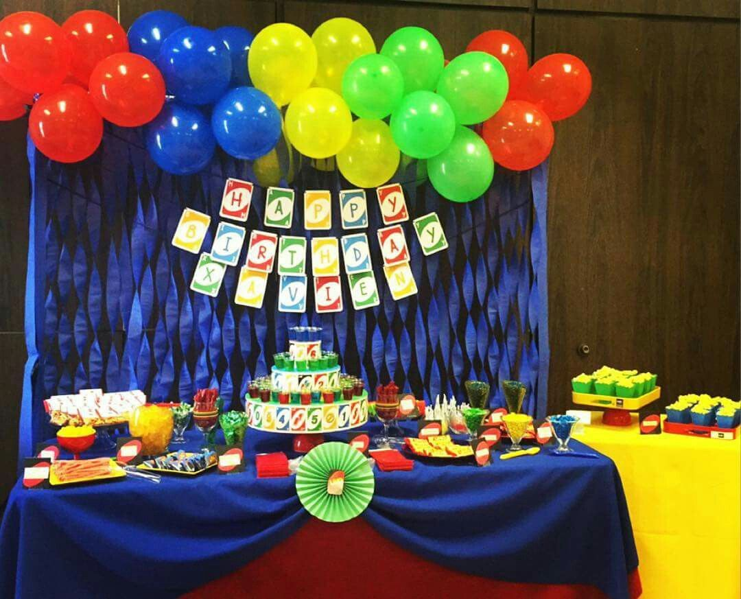 Uno theme decorations. Birthday, Birthday party themes