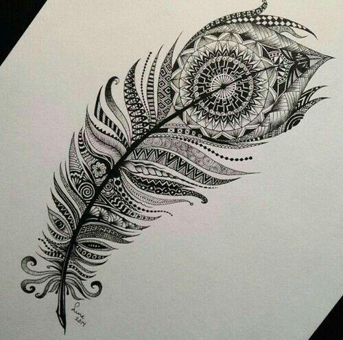 Dessin D Une Plume Mandala Tattoo Project Tattoo Ideen