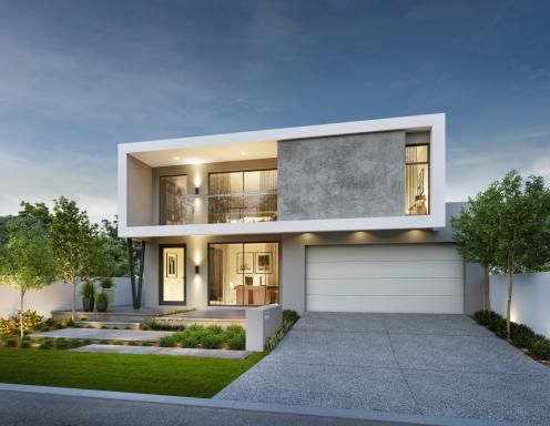 Luxe 16m Wide Two Storey Home Design Facade House Architecture House Modern House Exterior