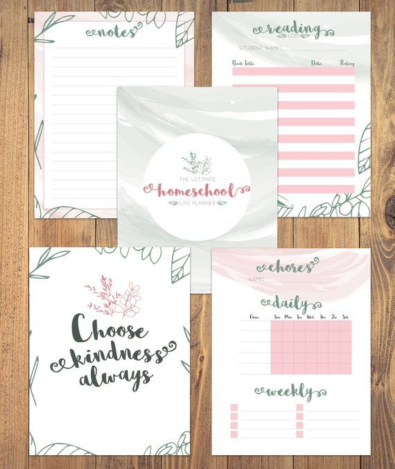 Printable Homeschool Life Planner Binder