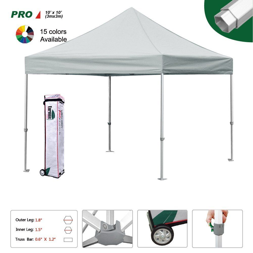Eurmax Pro Ez Pop Up Canopy Wedding Party Tent Instant Outdoor Gazebo Pavilion Canopy BBQ Cater Events Aluminum frame Commercial grade Bonus Roller bag ...  sc 1 st  Pinterest & Eurmax Pro 10x10 Ez Pop Up Canopy Wedding Party Tent Instant ...