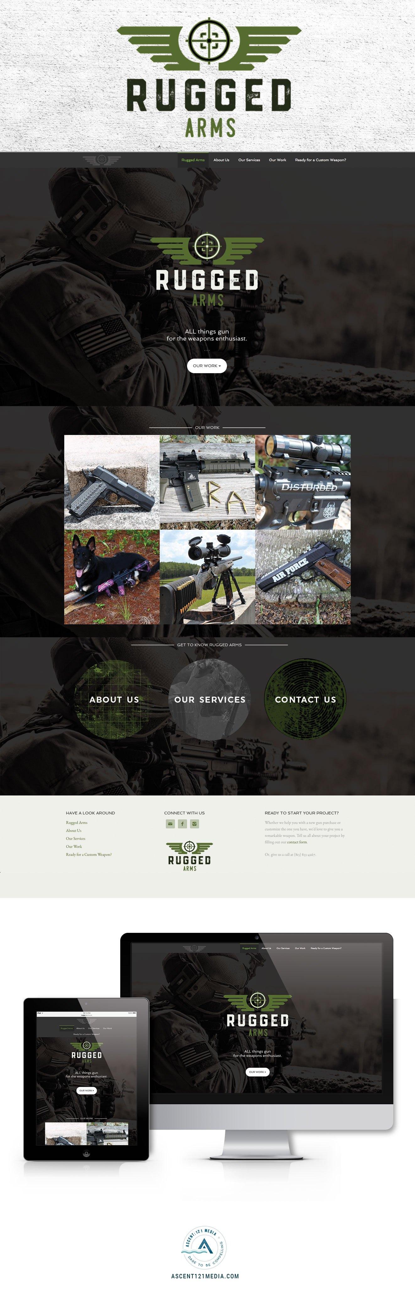 Rugged Arms Is Live Ascent 121 Media Web Layout Design Web Design Web Design Inspiration
