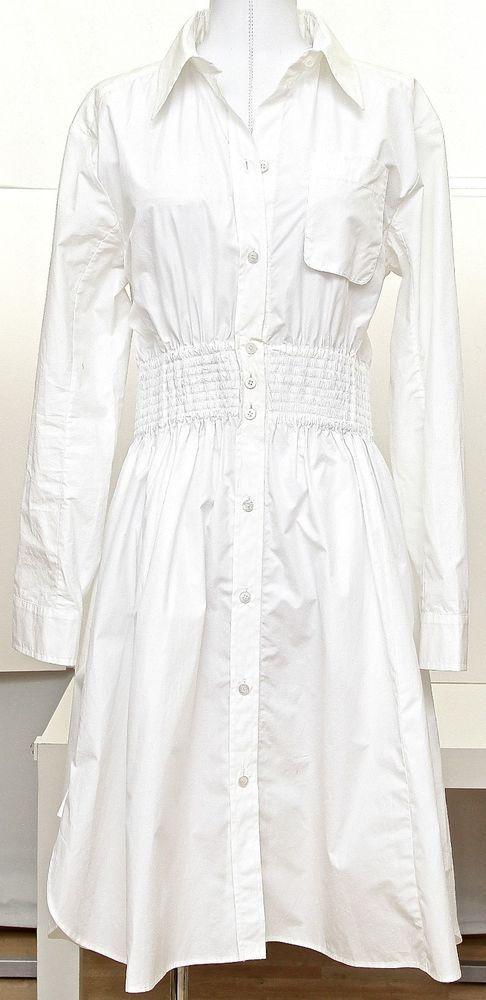 cc22d282051c Louis Vuitton White Cotton Shirt Dress Skirt Long Sleeve Button Down Sz 38   LouisVuitton  ShirtDress  Casual