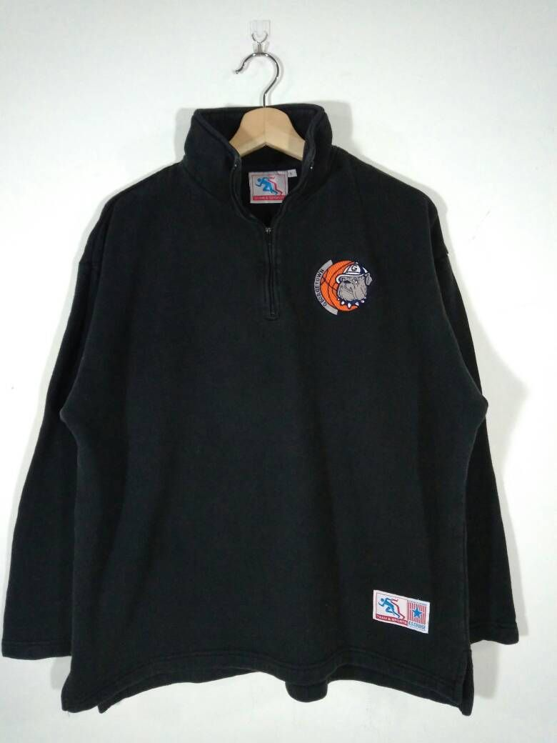 Rare Georgetown University Hoyas Basketball Embroidery Logo Etsy Vintage Sweatshirt Sweatshirts Sweatshirt Sweater [ 1040 x 780 Pixel ]