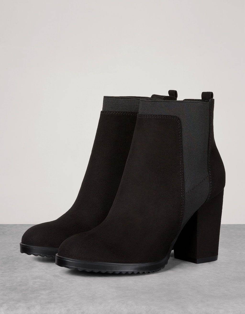 1e30af87601d Bershka Austria - Bershka mid heel elastic ankle boots