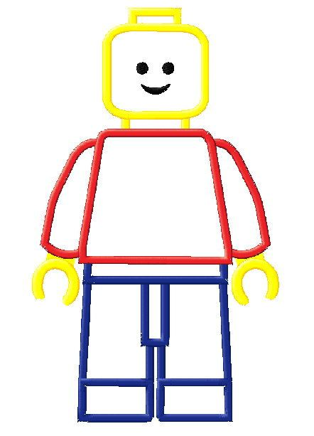 Lego Man Applique Machine Embroidery Design in 4 Sizes. $3.99, via ...